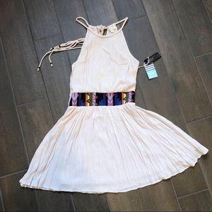 DOUBLE ZERO Aztec Accent Halter Dress